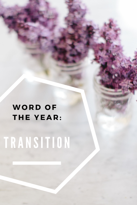 one word transition